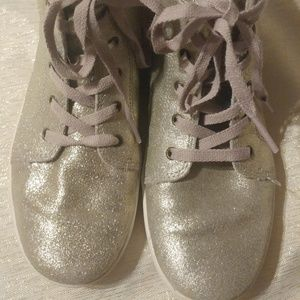 UGG Hi Top Glitter Sparkle Sneakers Lilac Laces 5